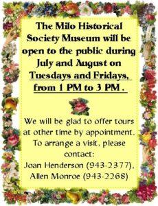 Museum summer hours